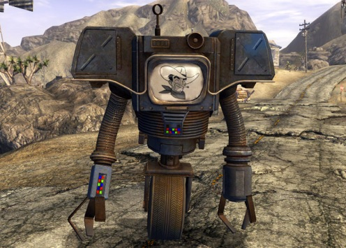 "Victor the Robot, as voiced by the guy who played Heywood in ""The Shawshank Redemption""!"