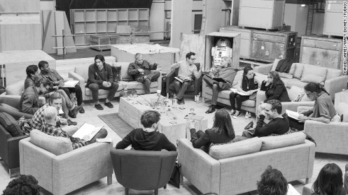 The cast of Star Wars Episode VII