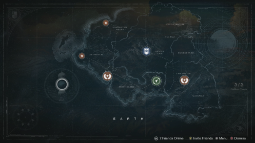 Destiny Earth Map